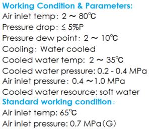 Máy sấy khí giải nhiệt bằng nước nhiệt độ cao